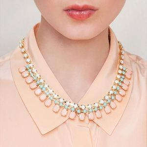 Jewelmint Pastel Pigment Collar Necklace Pink Blue
